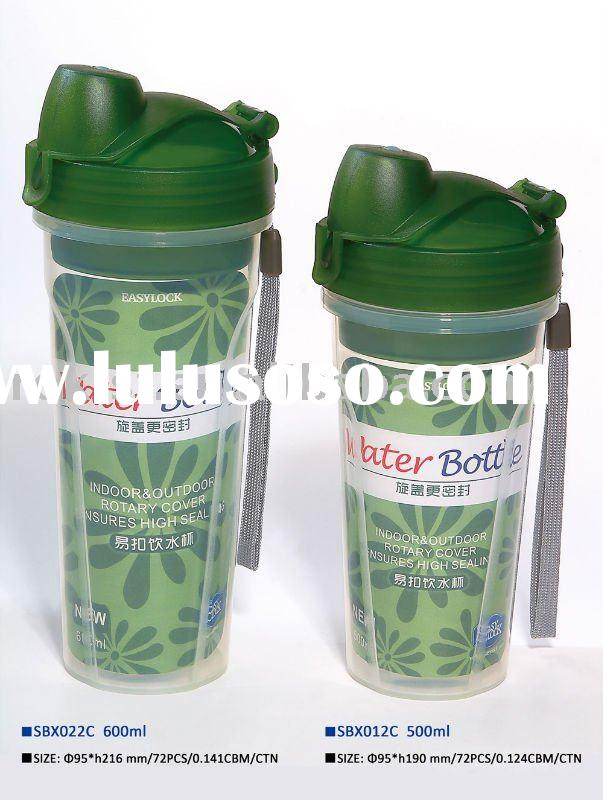 Easylock 500ml/600ml plastic shaker bottle