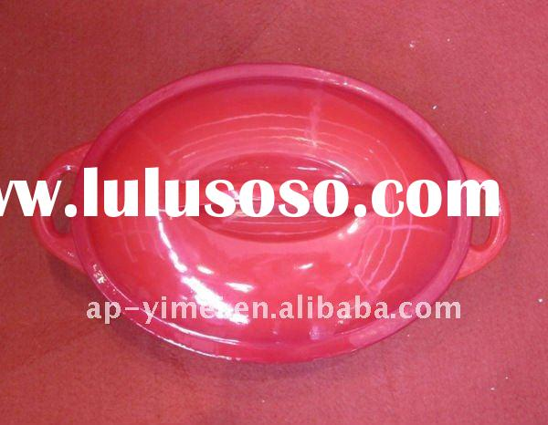 Emay iron enamel oval soup pot 24cm - factory direct