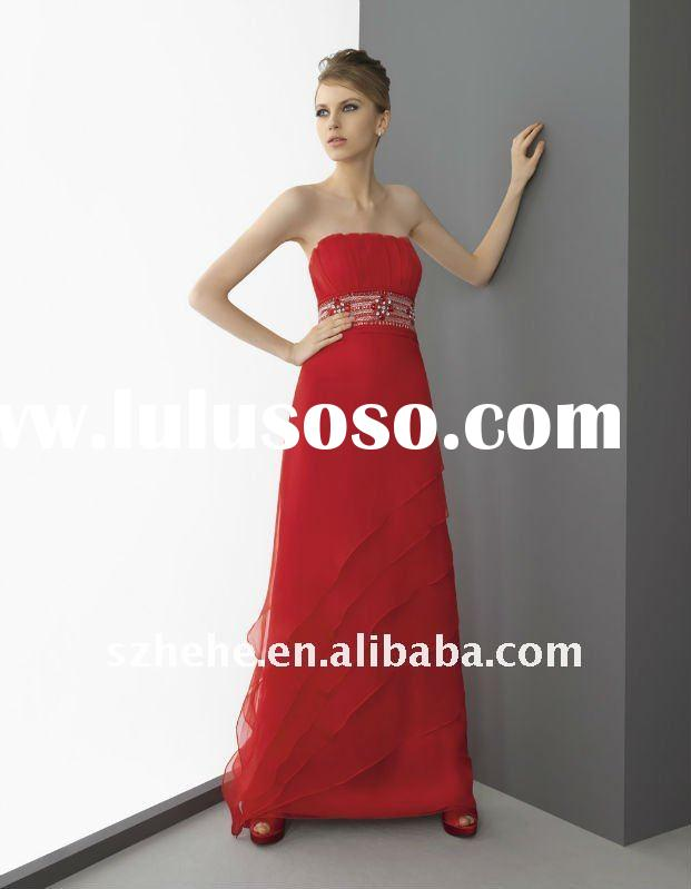 Enchanting beaded red evening dress patterns