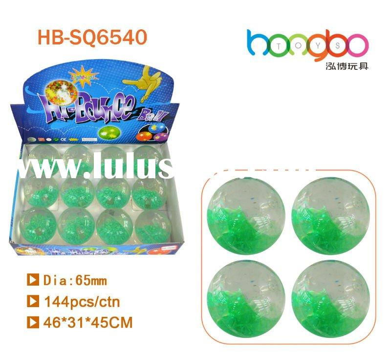 Falsing powder glitter bouncing water ball/crystal water ball/diamond shape water bouncing ball