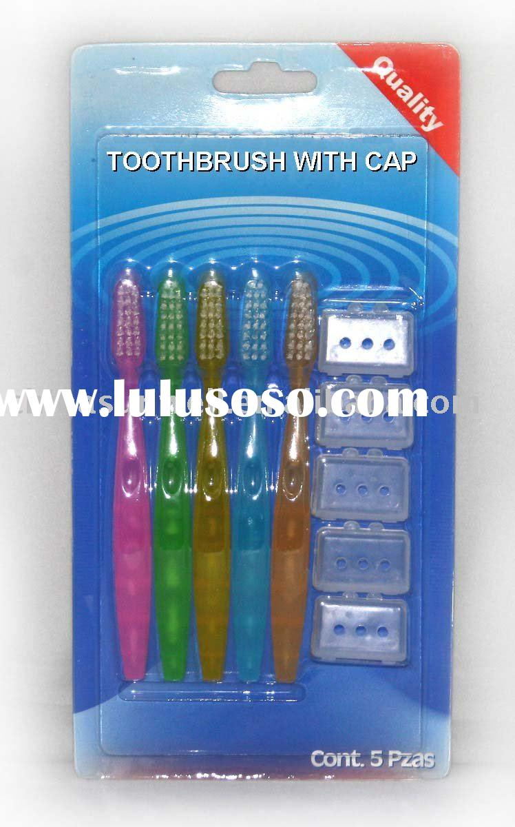 Five Teethbrush With Caps