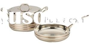 Five-ply Stainless Steel and Copper Cookware Set Soup pot and grill frying pan