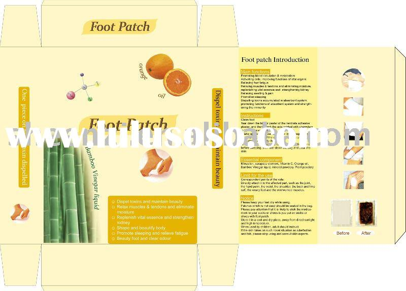 Foot detox patch/slim diet patch /verseo detox foot pads /natural detox patch /foot detoxification