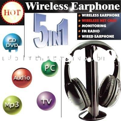 For MP3 PC TV CD Wireless Headset 5 in 1
