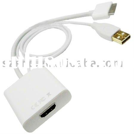 For iPad to HDMI Adapter with USB cable connector
