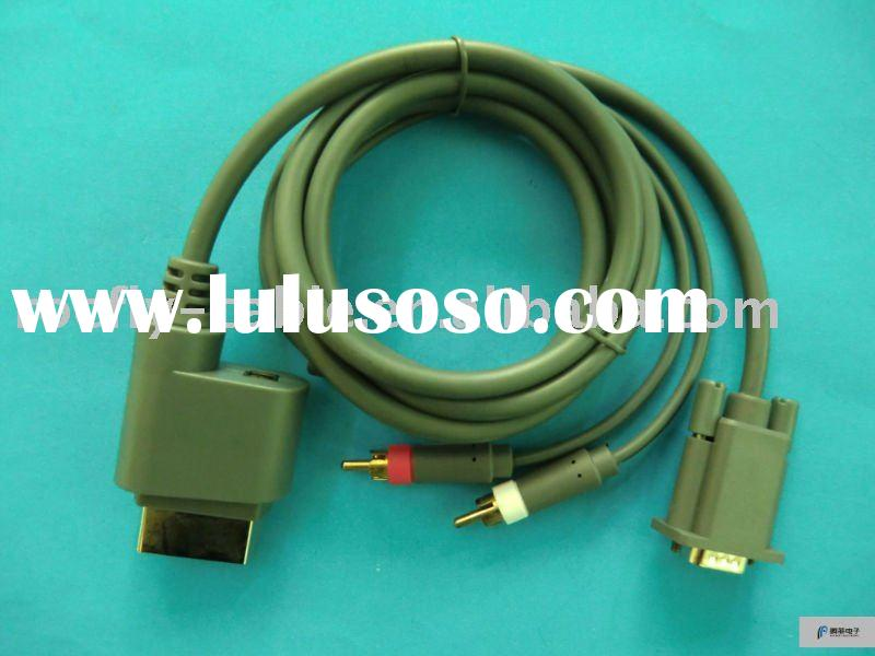 For xbox 360 elite HD VGA AV Cable with Optical Output