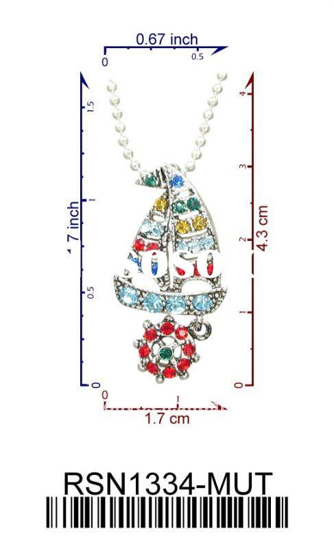 Free shipping RSN1334-MUT wholesale new sailing boat anchor charm necklace fashion jewelry