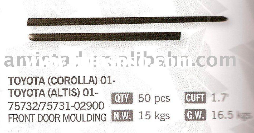Front door moulding for TOYOTA COROLLA/ ALTIS