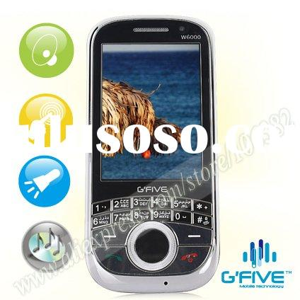 G'FIVE W6000 2.6 inch QVGA Gfive touch screen mobile phone with dual camera mobile and visua