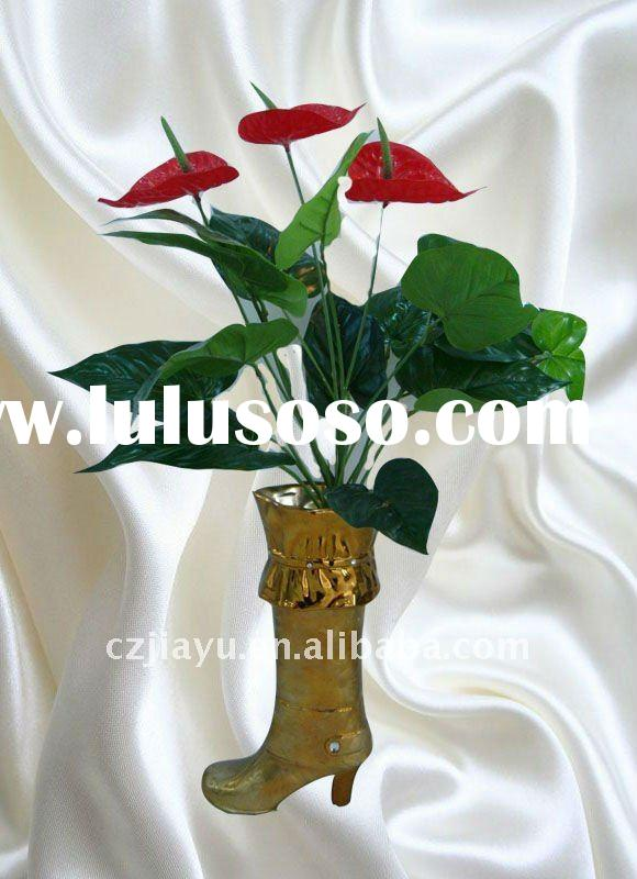 Gold Electroplating Ceramic Vase