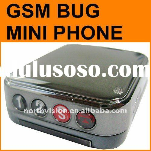 Gsm audio spy Mini phone TC-200 with two-way conversation gsm bug