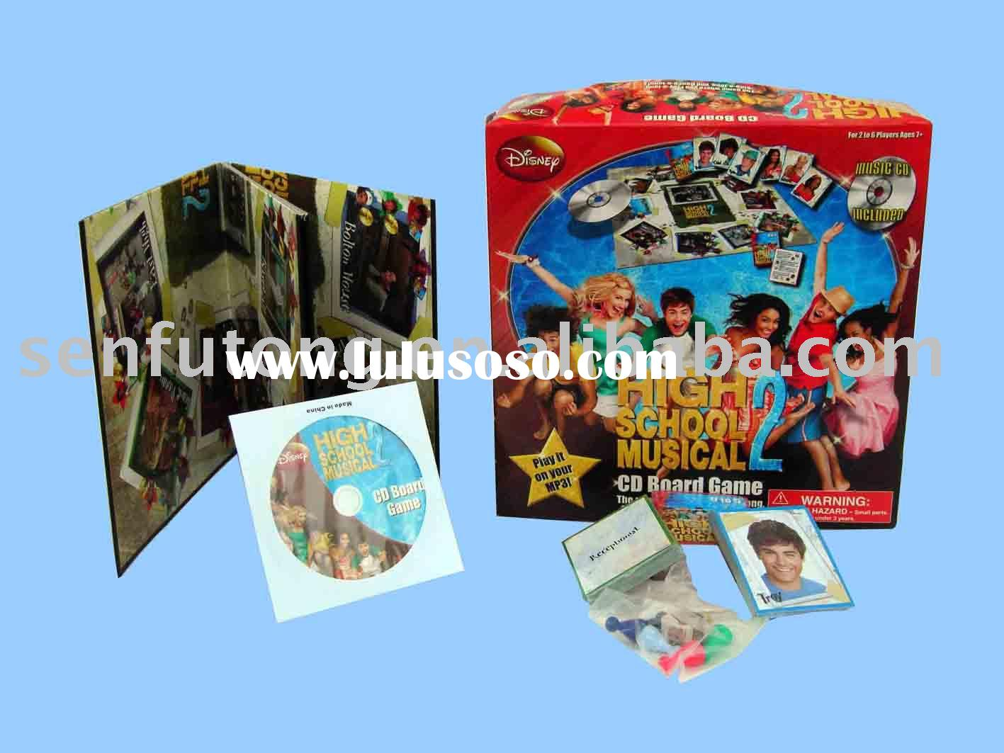 High School Musical CD Board Game disc;Board game;chess game