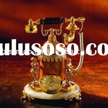 Home decorrative Antique table Telephone,Crafts, made of copper,24K gold plated, MOQ:1PC