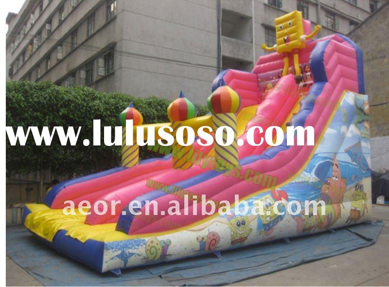 Hot!!! Inflatable spongebob slide with pool /Inflatable products for kids