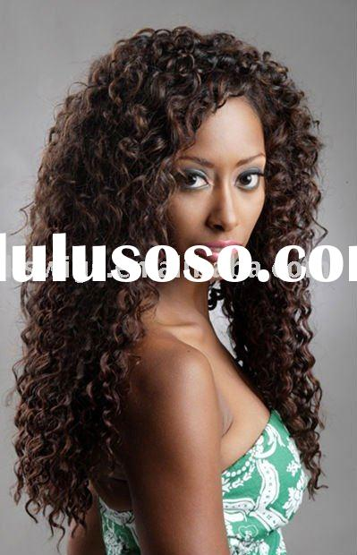 Hot sell Afro wave human hair extension for black women