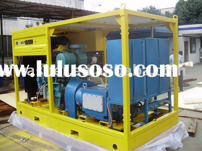 Hydro pressure test unit LF-317/22, diesel high pressure washer, ship cleaner, water jet machine,