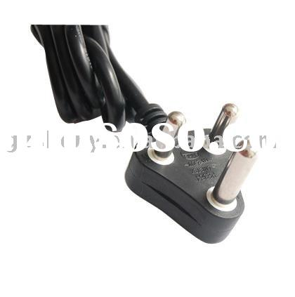 Indian AC power cord/south africa standard cable C008