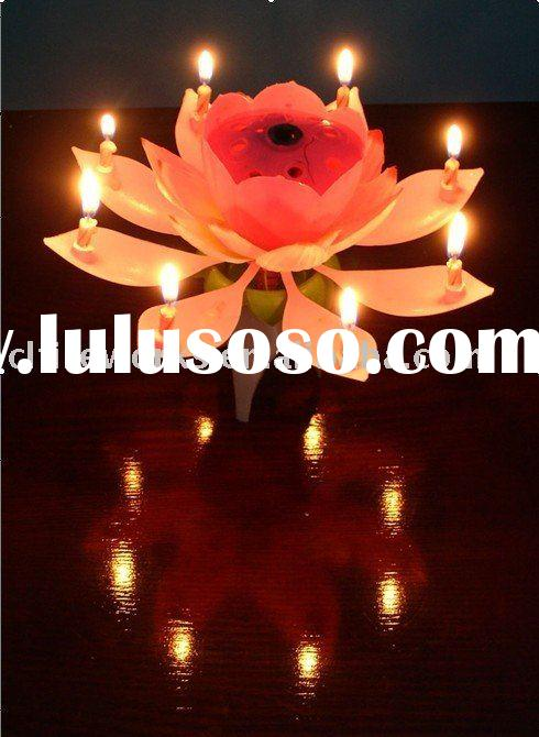 Indoor Fireworks Fabric-made-flower Music Candle