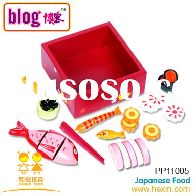 Japanese Food( wooden food toys,children's toy,wooden toys)