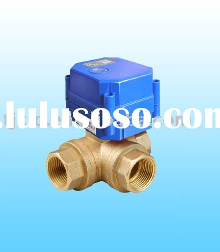 KLD20P 3 Way(B) Motor Actuated Ball Valve for automatic control, HVAC, solar energy, solar heating ,