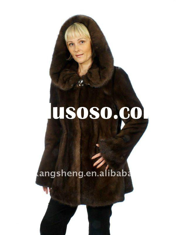 LADIES 100% GUARANTEED REAL MINK FUR COAT, FASHION DENMARK MINK FUR GARMENT,MINK FUR COAT,MINK FUR J