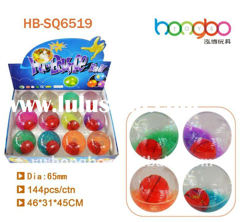 LED light Flashing basketball glitter water bouncing ball
