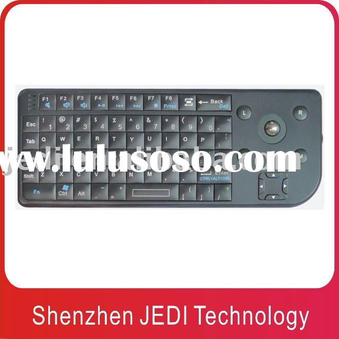 Low price wireless mini keyboard with Trackball mouse(JEDI-KML801 NEW)