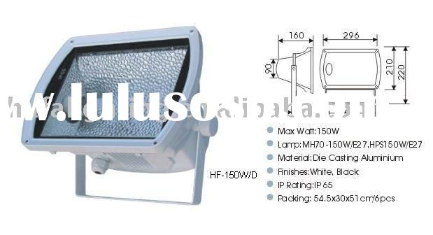 Metal Halide flood light , die cast aluminum body temperd glass diffuser