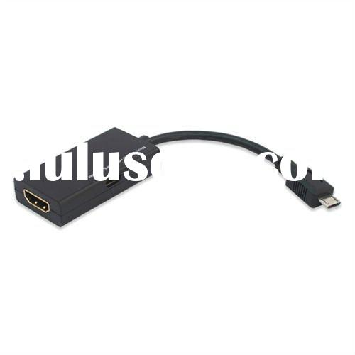 Micro Usb to HDMI Cable MHL Adapter for Samsung/ HTC (Black)
