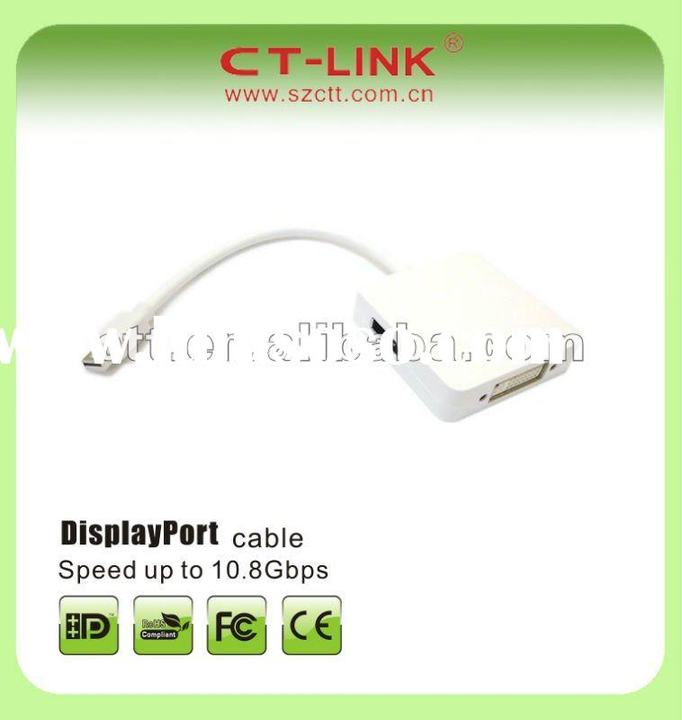Mini DisplayPort Male to DisplayPort+HDMI+DVI Female Cable