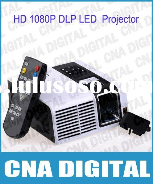 Mini Projector HD 1080p DLP led portable projector home theater video projector, drop shipping