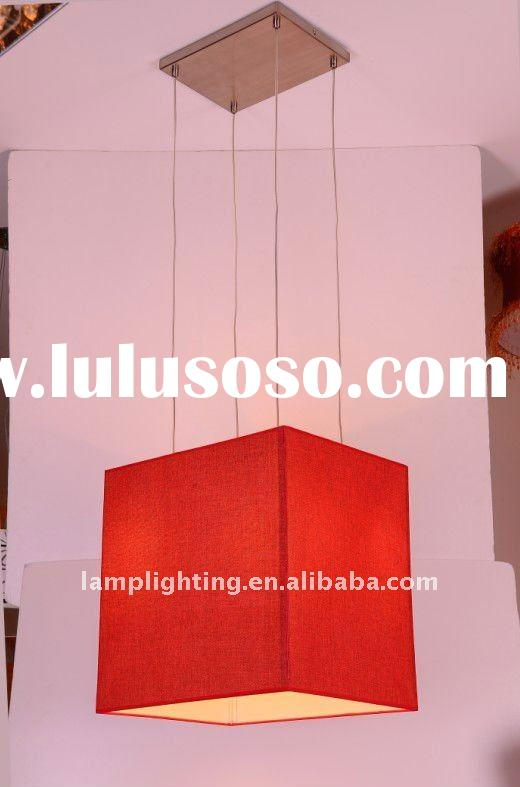 Modern square red fabric pendant lamp/light/lighting