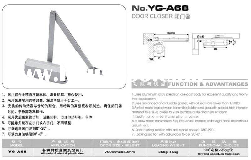 Yale Door Closer No 72 Installation Instructions Yale