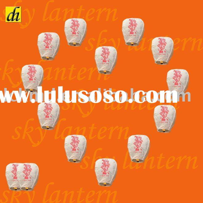 New ECO Chinese Love Sky Lantern for valentine's day