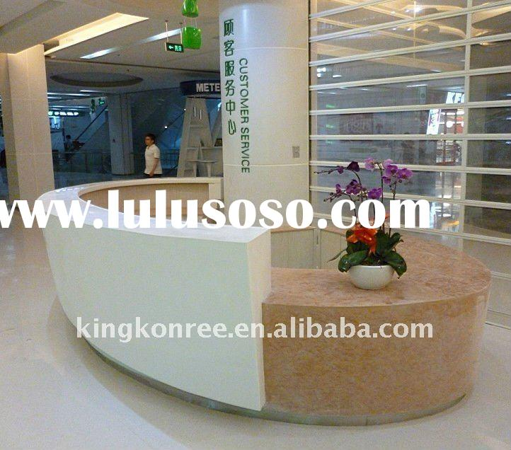 New design Corian acrylic solid surface reception desk