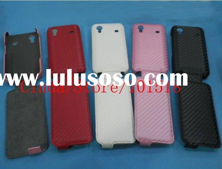 New mobile phone leather case for Samsung Galaxy Ace S5830 Carbon