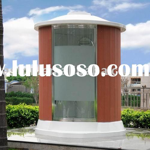 Outdoor Steam Sauna Room (wooden acrylic glass shower door)
