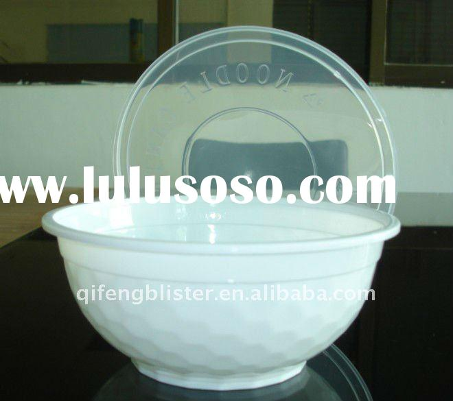 PP Disposable microwave takeaway plastic food container bowl for soup bowl and noodle bowl