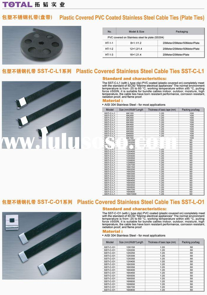 PVC coated Stainless Steel Cable Tie (plate)