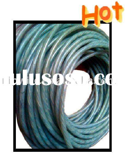 PVC coated steel wire rope, pvc coated wire, plastic wire(S)