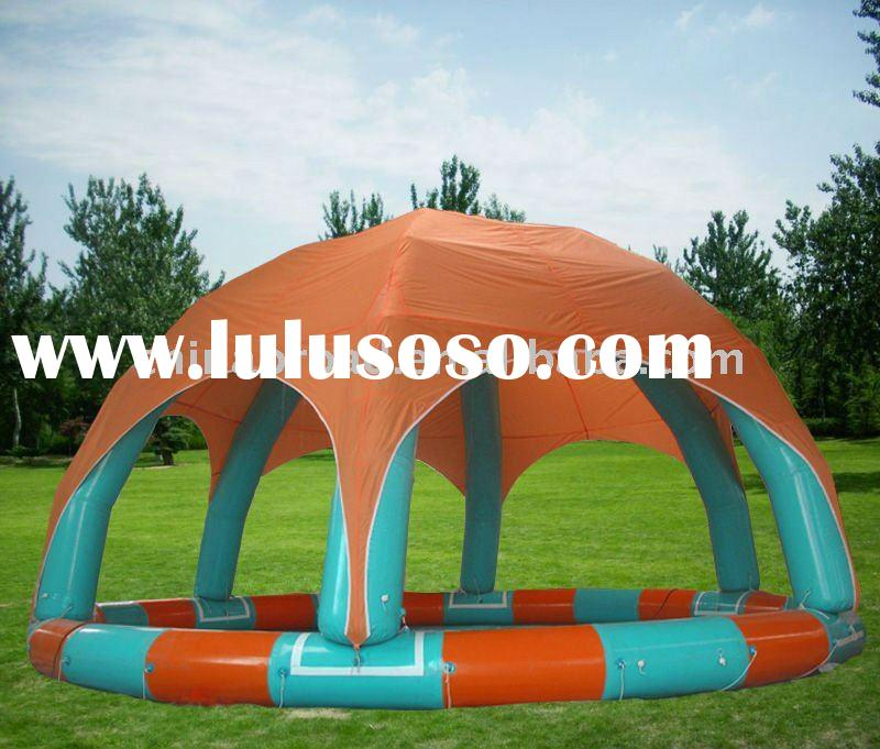 PVC inflatable swimming pool with tent cover(YCD-002 8X8m)