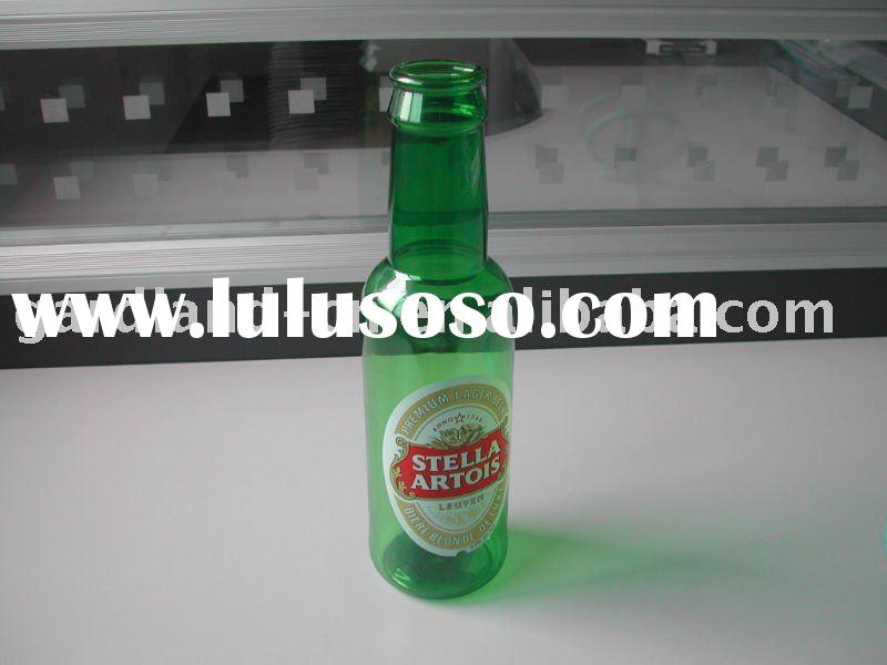 Plastic beer bottle,clear beer bottle