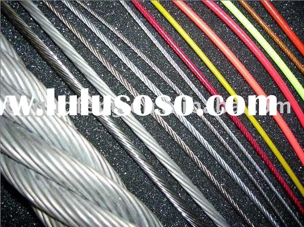Plastic coated steel wire rope(PVC, PU, PP, nylon)
