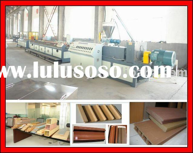 Plastic lumber machine -- wpc made from recycled plastic and wood powder composite