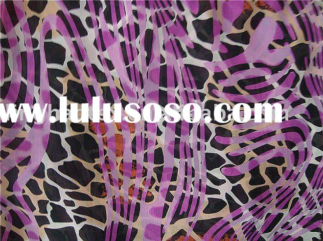 Printed chiffon for evening dress fabrics, dress fabrics, shirt fabrics