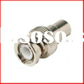 RCA female to BNC coax male connector adapters