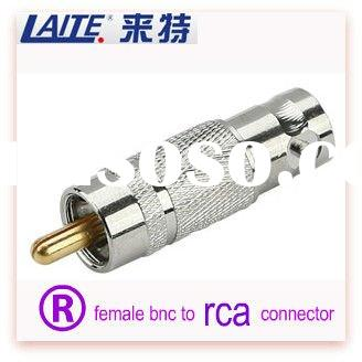 RF BNC male jack to RCA connector