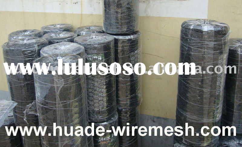 Rabbit-Proof Fence, PVC coated hexagonal wire mesh, Powder coated wire netting