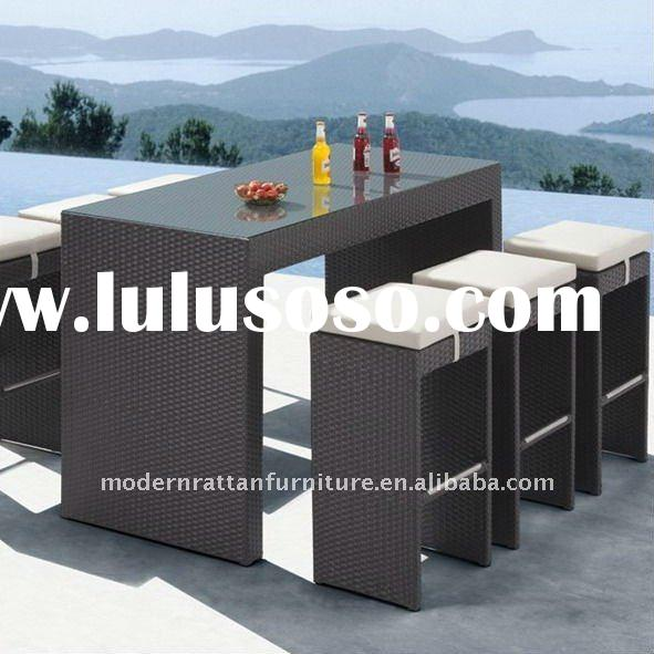 Rattan bar set - Bar table and chair