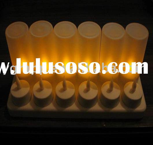 Rechargeable flameless Candle,Rechargeable LED Candle night light,rechargeable tea light
